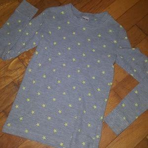 Grey thermal star shirt